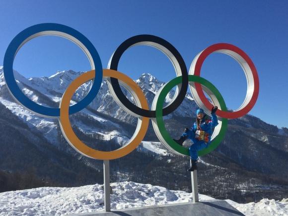Evgenia Molchina Olympic rings